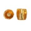 Glass Bead Ornela Cut 7/7mm Topaz Silver Lined - Strung